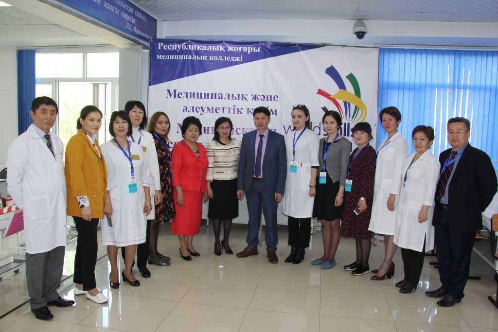 """IMG 5307 1024x683 - Республиканский высший медицинский колледж является инициатором проведения регионального чемпионата """"WorldSkills Almaty 2019""""по компетенции «Медицинский и социальный уход»"""