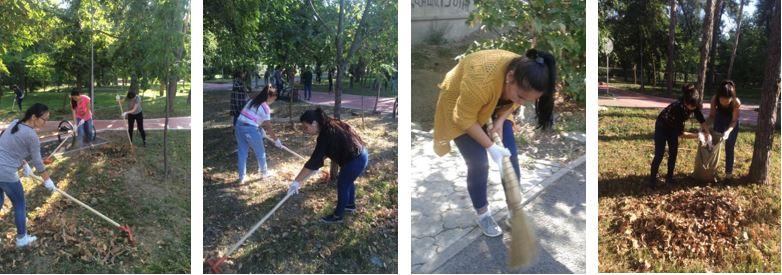 senbilic - Колледж студенттері жалпықалалық сенбілікке қатысты